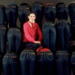 Gloria Vanderbuilt jeans ad, photo by Evelyn Floret
