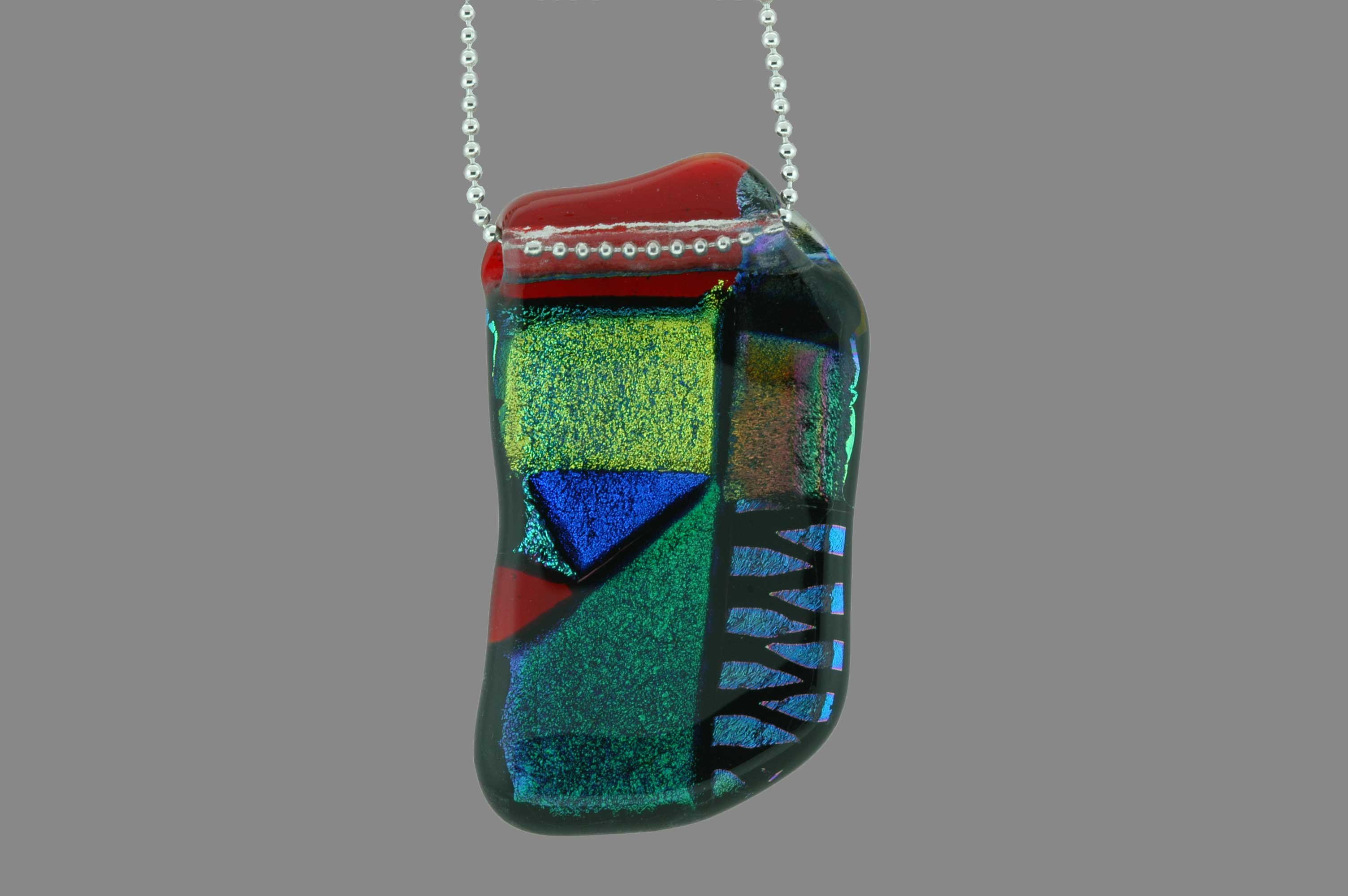 Mosaic glass pendant by Evelyn Floret