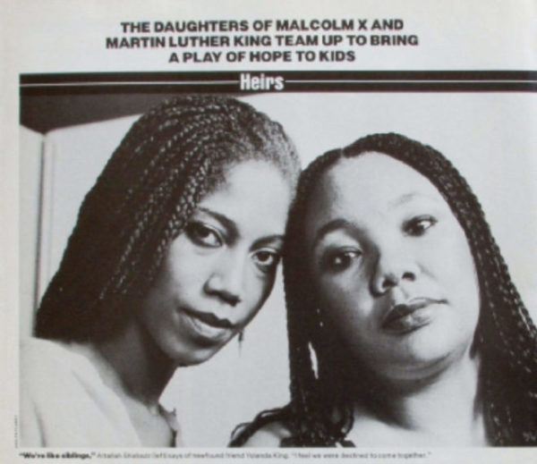 Daughters of Malcolm X and Martin Luther King jr, photographed by Evelyn Floret