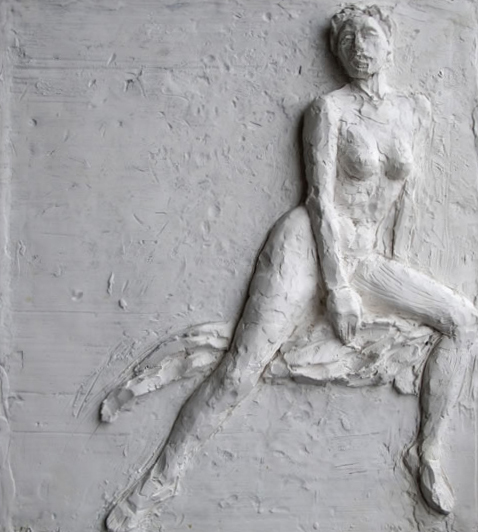 Forth, Bas relief by Evelyn Floret