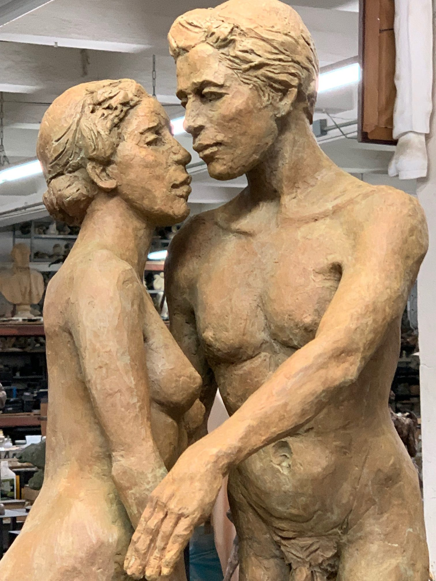 Love, sculpture by Evelyn Floret