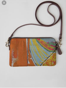 Purse printed from detail of artwork by Evelyn Floret