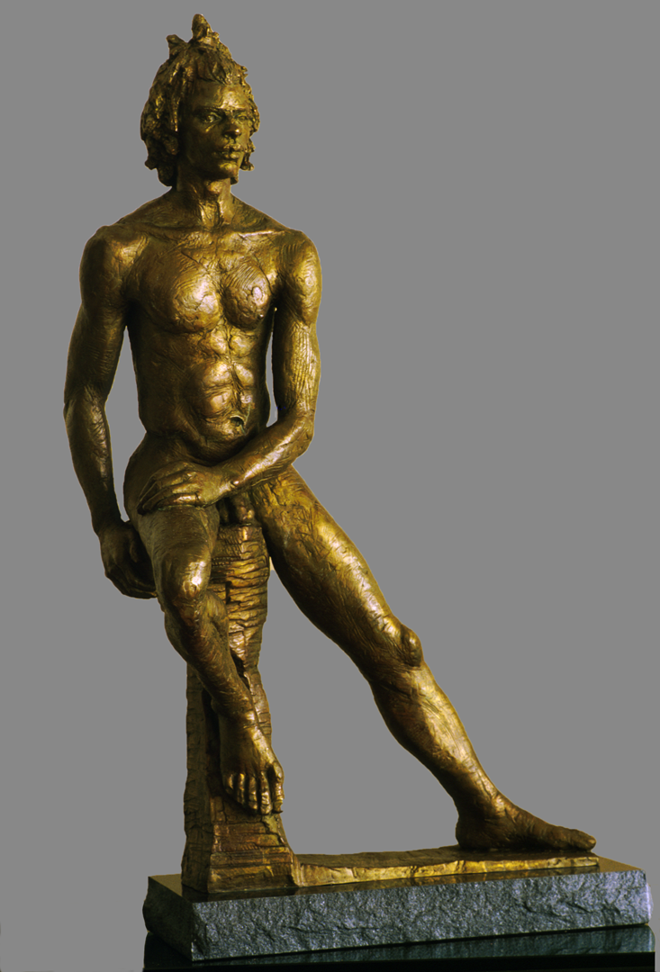 Obadele II, bronze sculpture by Evelyn Floret