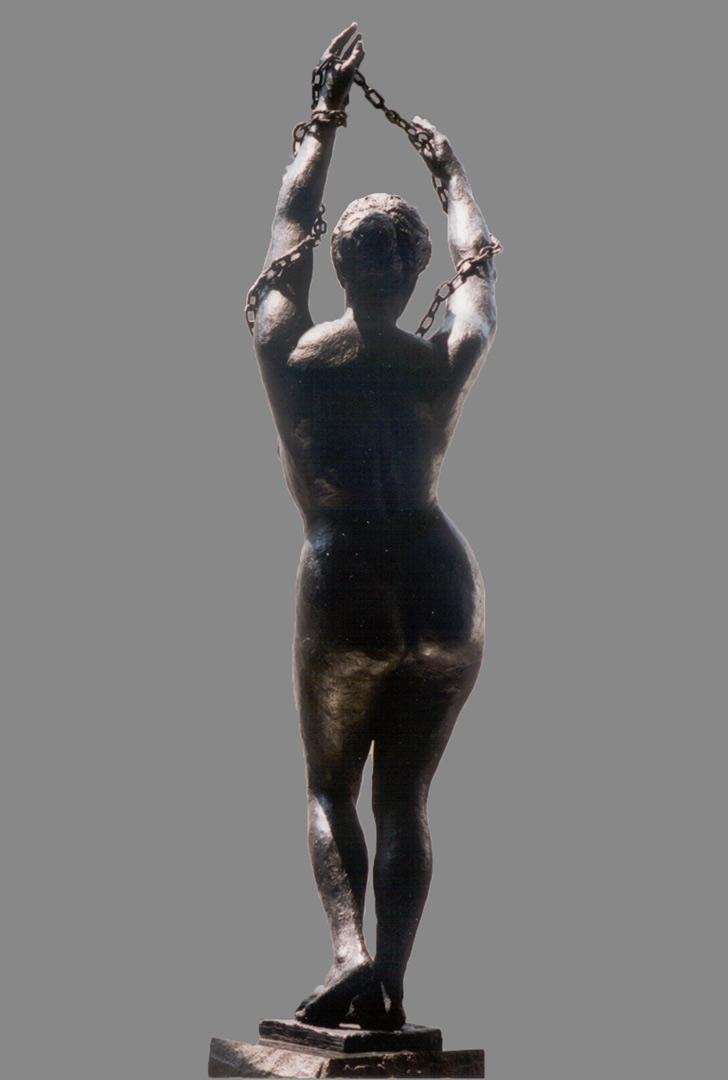 September 11th bronze female sculpture by Evelyn Floret
